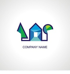 Logo for architect or organic company vector