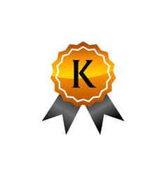 Logo quality letter k vector