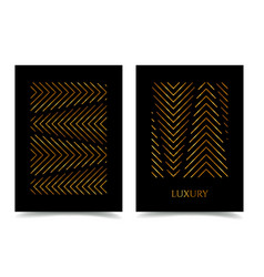 Modern design luxury poster bright gold stripes vector