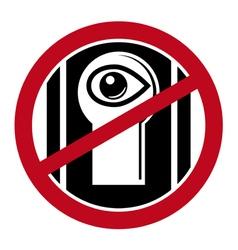 No spy icon vector