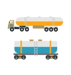 Oil logistic petroleum transportation tank car vector