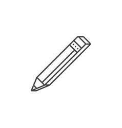 pencil related line icon vector image