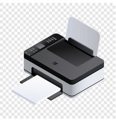 Photo printer icon isometric style vector