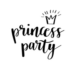 Princess party bridal shower card design birthday vector
