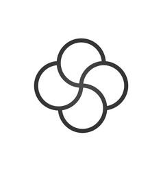 quadruple knot tattoo design cross knot four vector image