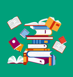 reading concept a lot vector image