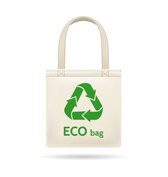 Realistic shopping ecobag vector