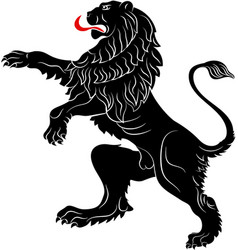 rebels lion - the heraldic symbol used in the vector image