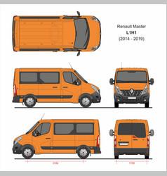 Renault master passenger van l1h1 2014-2019 vector
