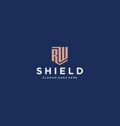 rw shield logo vector image