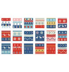 seamless christmas patterns design vector image