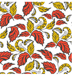 Seamless hand-drawn flowers pattern vector