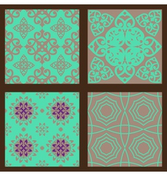 Set-3-seamless-colorful-patterns-oriental-ornament vector