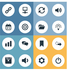 Set of simple practice icons vector