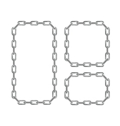 Silver Chain Frames vector image