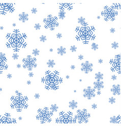 Snowflake pattern on a white background vector