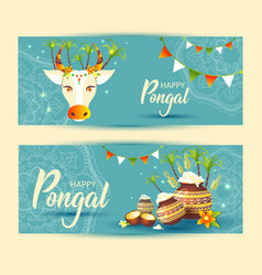 south indian festival pongal background template vector image