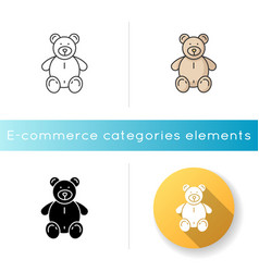 stuffed bear icon vector image