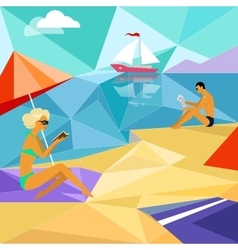Summer Beach People vector image