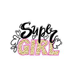 Super girl colorful graffiti vector