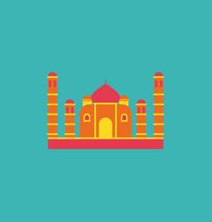 Taj mahal temple indian pagoda vector
