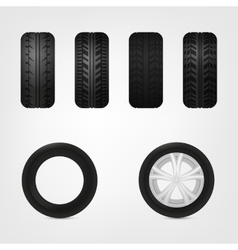 Tires collection vector image