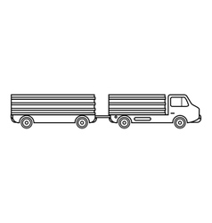 Trailer icon outline style vector