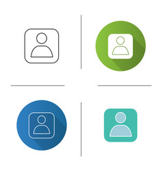 User account box icon vector