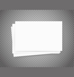 White paper sheets on transparent background vector