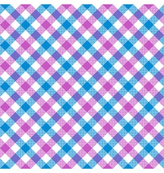 White pink blue check plaid fabric texture vector