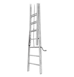 Windlass extension ladders vintage vector