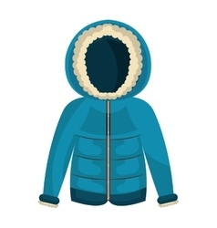 winter jacket clothes isolated icon vector image