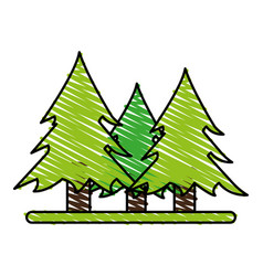Wonderful trees forest vector