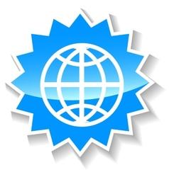 World blue icon vector