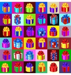Big set of gift boxes and bags 36 icons vector image vector image