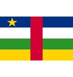 Central African Republic flag correct size colors vector image