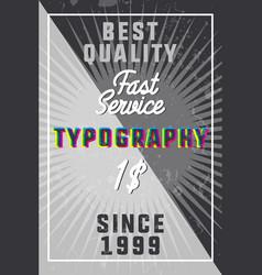 color vintage typography banner vector image