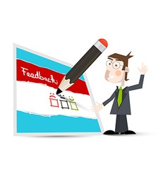 Feedback Form Feedback Icon with Business Man and vector image vector image