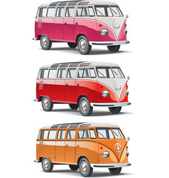 mini-bus set vector image vector image