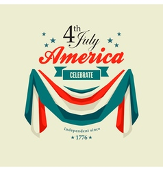 4 july swag bunting vector image vector image