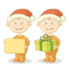 Children Santa Claus vector image vector image