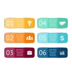 color stickers and labels for infographic vector image