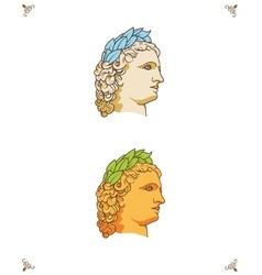 greek man head logo vector image