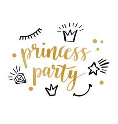 princess party card design vector image