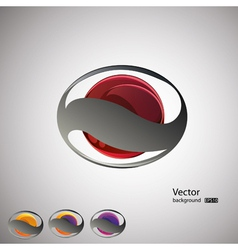 abstract backgroundset vector image vector image