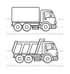 Cars and vehicles coloring book for kids Dump vector image