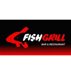 Fish grill logo vector image vector image