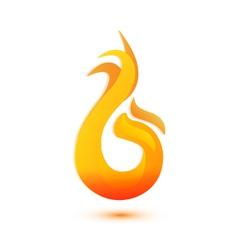 Flames logo vector image vector image