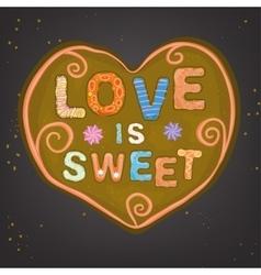 Love Gingerbread vector image