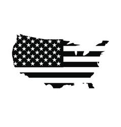 USA map flag icon vector image